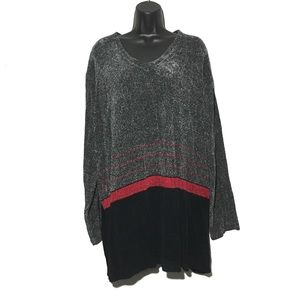 NEW Charter Club Chenille Color Block Sweater 3X
